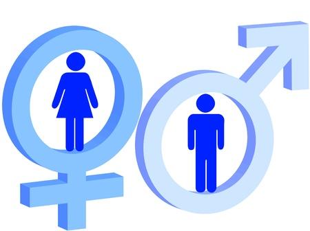 Signo de hombre y mujer como s�mbolo de hombre y mujer Foto de archivo - 8539389