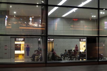 chengdu: Passengers in the Chengdu Airport