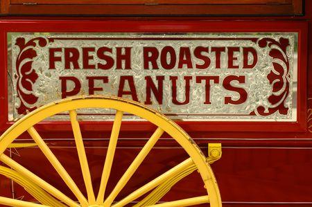 Colorful peanut vendor's cart Stock Photo - 482509