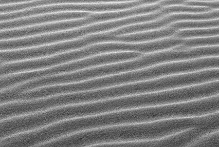 oceana: Black and white pattern of ridges in sand dunes in Oceana California Stock Photo