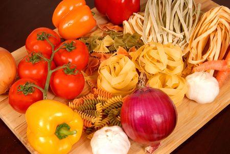 bounty: A bounty of fresh Italian foods resting on a cutting board