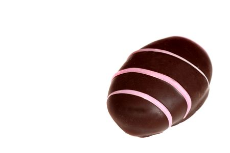 semisweet: A piece of Raspberry cream semi-sweet chocolate isolated on white