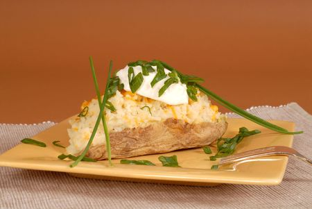 twice: A twice baked potato with chives and sour cream