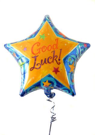 good luck: Festive helium filled balloon with Good Luck written on it