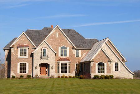 housing lot: Elegant new brick home on a large lot