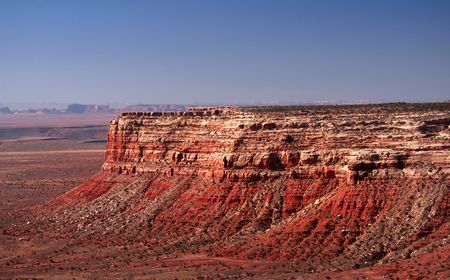 geological formation: Geological formation known as the Vermilion Cliffs in Monument Valley Stock Photo