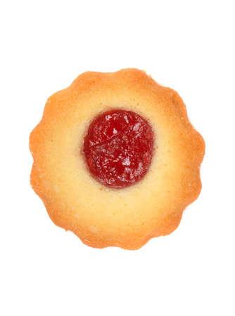 odcisk kciuka: Świeżo upieczony malina odcisk kciuka Christmas cookies