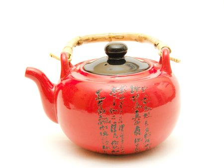 Red Chinese teapot Stock Photo - 847240