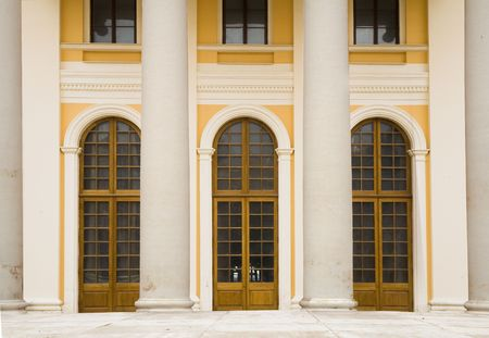 Classical porticos with columns. A building XIX century. photo