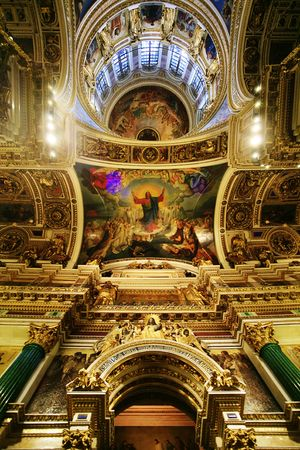 Saint Isaak Cathedral, interior of the main dome.