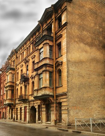 The mystical house covered by legends in St.-Petersburg. photo