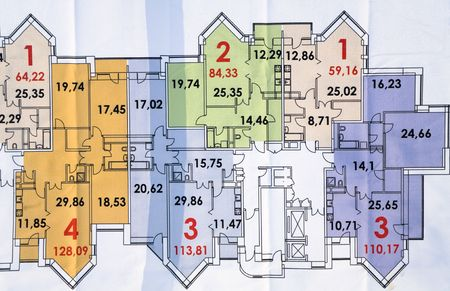 tabulation: The plan of construction of a multiroom building
