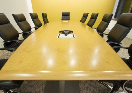 meeting room and a big table with a speakerphone Stock Photo - 796957