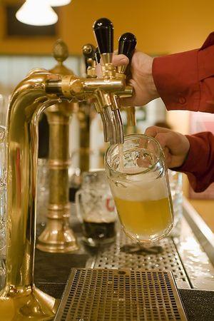 pilsner: interior of a pub Stock Photo