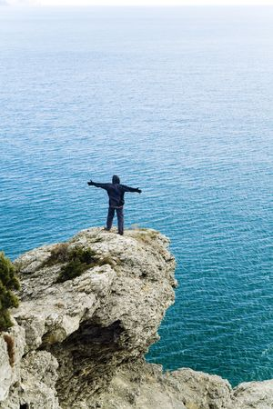 freedom on the sea cliff Stock Photo - 842732