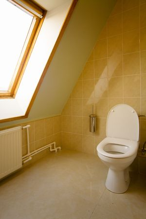 lavatory with a window in a wall Stock Photo - 842729