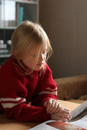 bookish: Reading a book Stock Photo