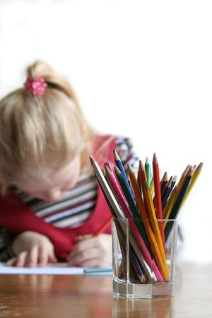 learning by doing: Little girl drawing