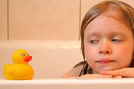 Portrait with bath duck photo
