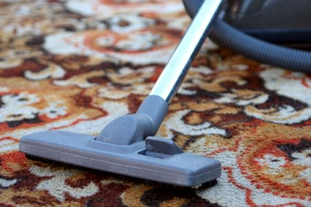 Cleaning carpet Stock Photo