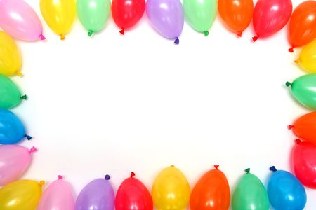 red balloon: Plenty of colorful balloons on a white background