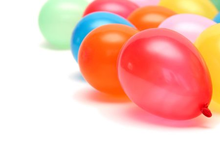 Plenty of colorful balloons on a white background