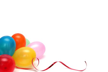 Plenty of colorful balloons on a white background Stock Photo - 867813