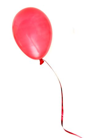 One red balloon on a white background Stock Photo - 867815