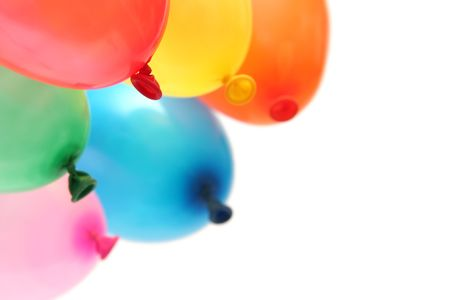 Plenty of colorful balloons on a white background Stock Photo - 874049