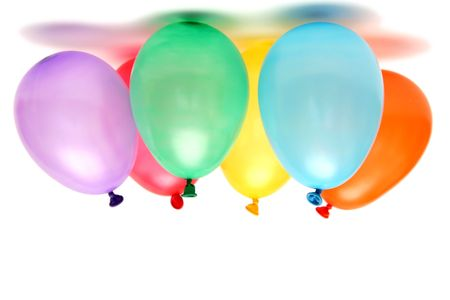 Plenty of colorful balloons on a white background Stock Photo - 874053
