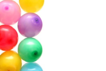 Plenty of colorful balloons on a white background Stock Photo - 874054