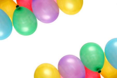 Plenty of colorful balloons on a white background Stock Photo - 874057