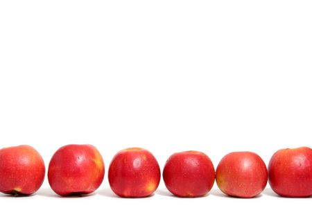 pome: Red fresh apples on a white background