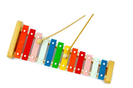 xylophone: Rainbow xil�fono sobre un fondo claro
