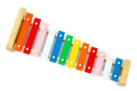 xylophone: Rainbow xil�fono sobre un fondo claro Foto de archivo