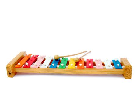 xylophone: Rainbow xylophone on a light background