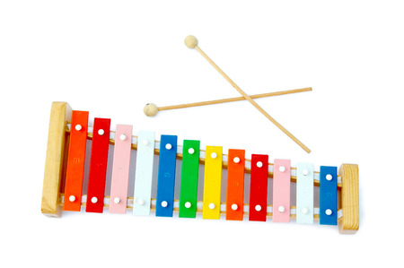 Rainbow xylophone on a light background