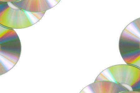 writable: Cd or DVD romes on a white Stock Photo