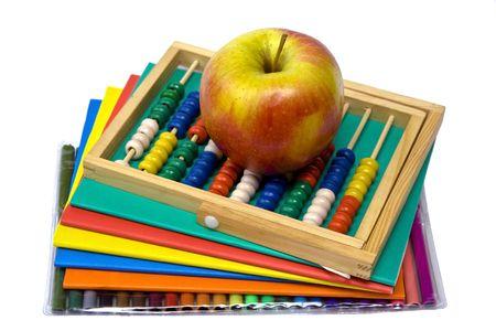 Colorido libros de ejercicio y otros materiales escolares  Foto de archivo - 6730133