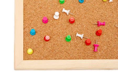 corkwood: Colorido alfileres en un marr�n corkboard