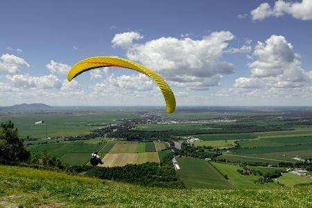 paraglider: Paraglider jumping