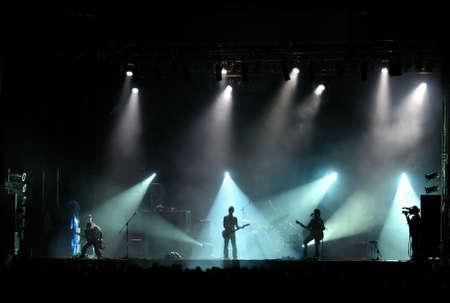 live band performing at a concert - no visible human faces Stock Photo - 5462618