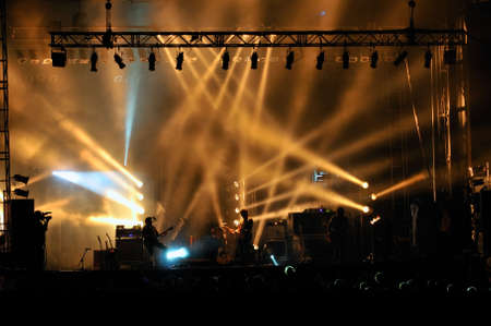 Stage lighting at a concert photo