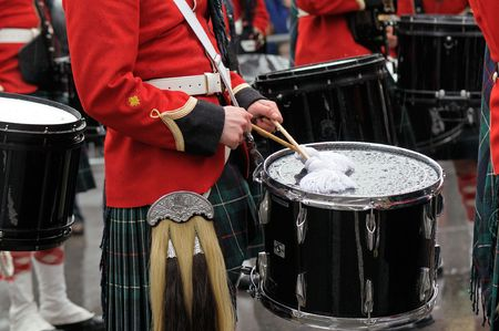 qc: MONTREAL, QC, CANADA - MARCH 14: Saint Patricks day parade March 14, 2010 in Montreal, QC, Canada. Editorial