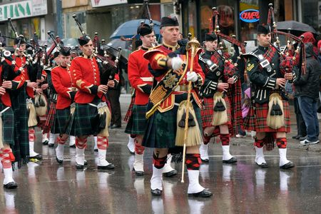 MONTREAL, QC, CANADA - MARCH 14: Saint Patricks day parade March 14, 2010 in Montreal, QC, Canada. Editorial