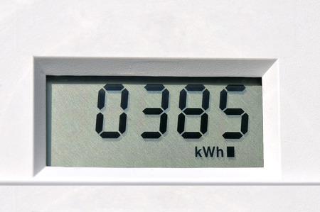 contador electrico: medidor de electricidad Foto de archivo
