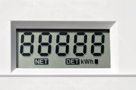 electric current: digital electric meter