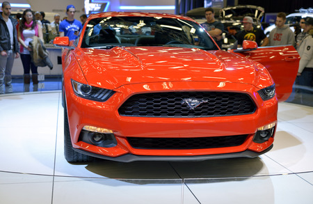 mustang: New Ford Mustang shown at The Montreal International Auto Show  at the Palais des Congres de Montreal 46th Edition Editorial