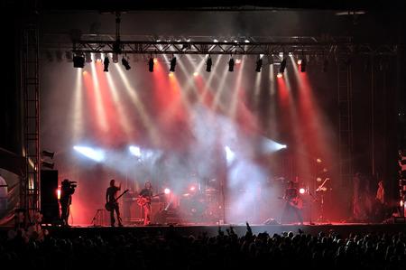 Rock concert live on stage outside