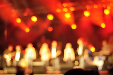 Outdoor rock concert light background illumination photo